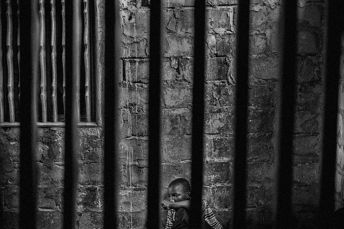 Mario Cruz, First Prize Stories in the Contemporary Issues Category. The picture shows Abdoulaye, 15, imprisoned in one room of a daara in the Diamaguene area, city of Thies, Senegal, May 18, 2015