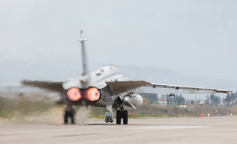 Russian Aerospace Force Sukhoi Su 24M aircraft
