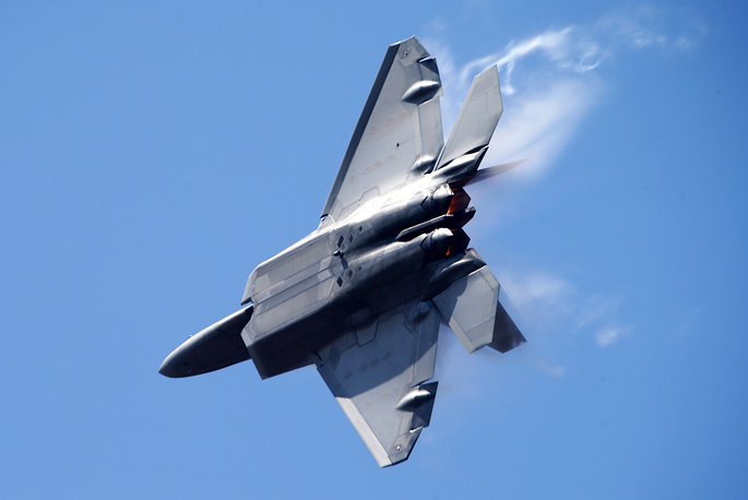 US Lockheed Martin F-22 Raptor fighter plane