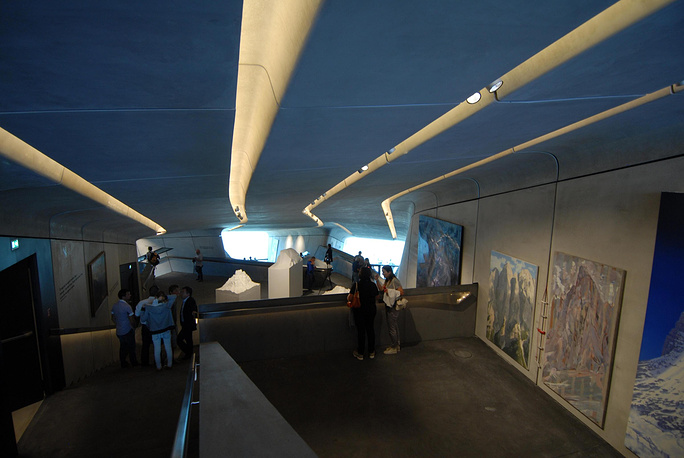 A interior view over the Messner Museum