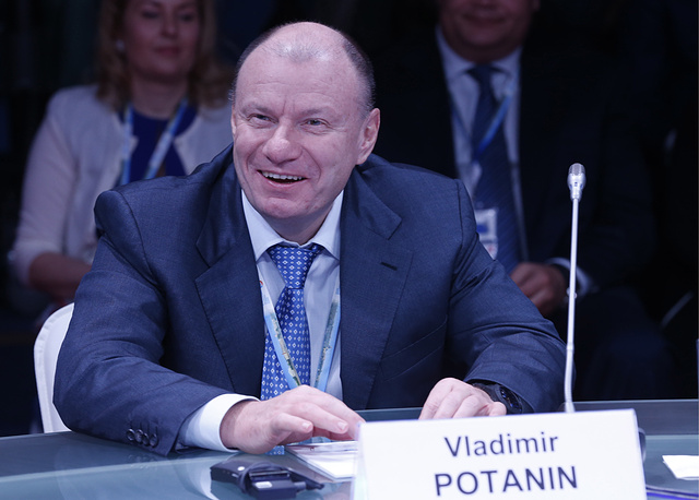 Vladimir Potanin, chairman of the Interros, major Russian private investment company, $12.1 bln