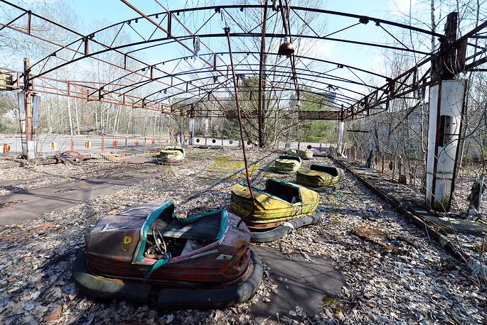 A former amusement park in Pripyat