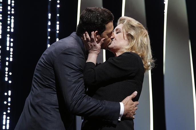Actors Laurent Lafitte and Catherine Deneuve