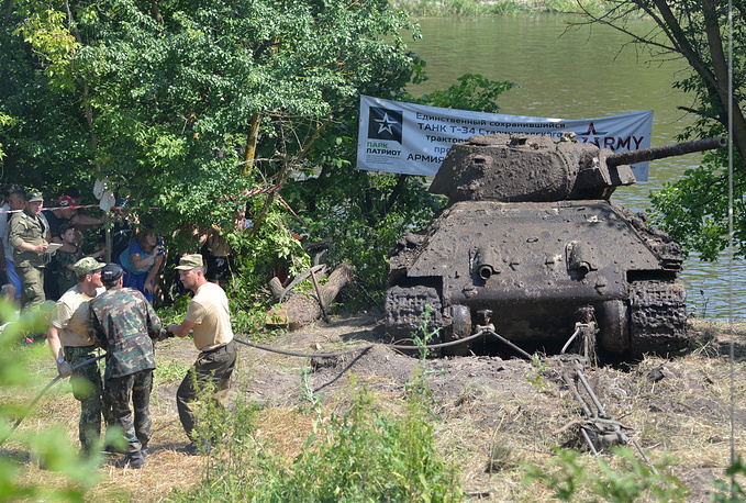 US Sherman tank recovered