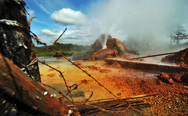 A geothermal/hot spring in Ochamchira
