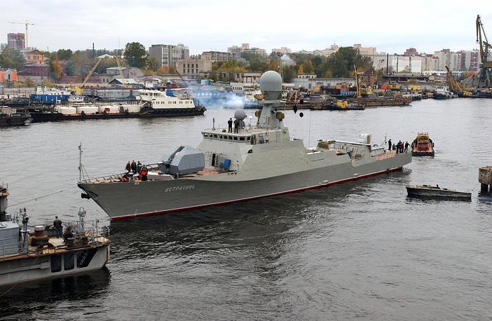 The leading gun-firing river-sea type ship Astrakhan