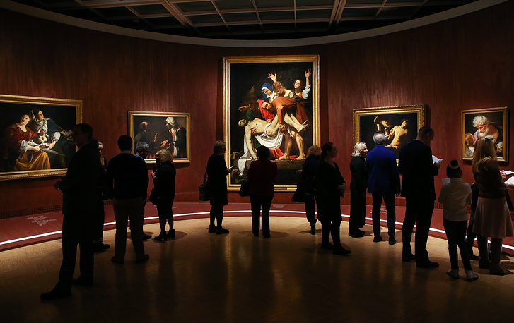 """""""Roma Aeterna. Masterpieces of the Vatican Pinacotheca. Bellini, Raphael, Caravaggio"""" exhibition in the State Tretyakov gallery, Russia, November 21"""