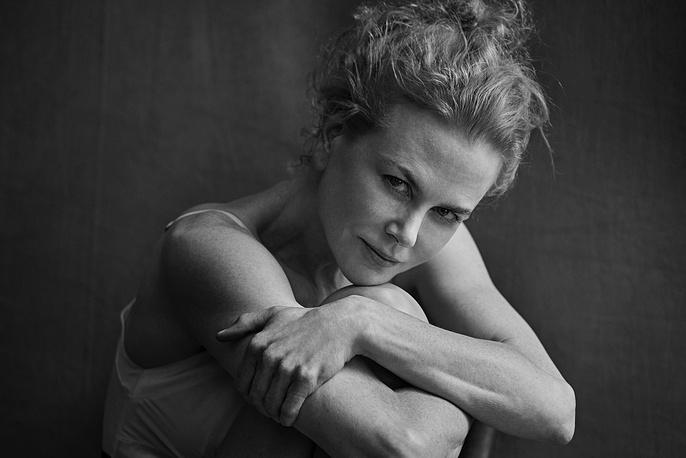 Australian actress Nicole Kidman posing for the Pirelli Calendar 2017