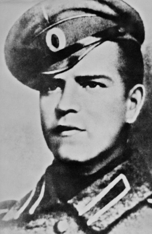 Georgy Zhukov was conscripted into the army in 1915. During World War I, he was awarded the Cross of St. George twice, and promoted to the rank of non-commissioned officer for his bravery in battle. After the  1917 Revolution he joined the Bolshevik Party. Photo: Georgy Zhukov, future marshal of the Soviet Union, 1916