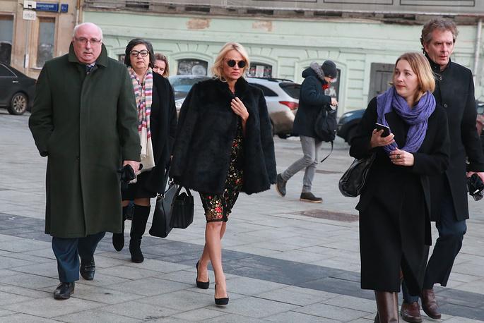 Pamela Anderson arriving at TASS