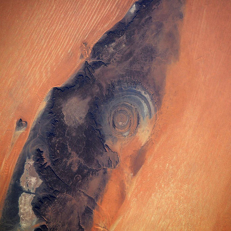"""The Richat Structure, also known as """"the Eye of the Sahara"""""""