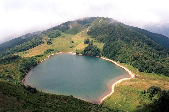 Khuko, a beautiful montain lake, located in Caucasus Nature Reserve