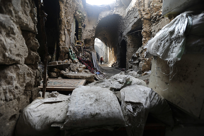 Damage in the Old City of Aleppo
