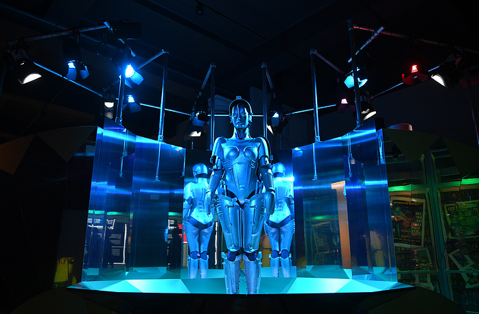 A replica of the robot 'Maria' from the film 'Metropolis'