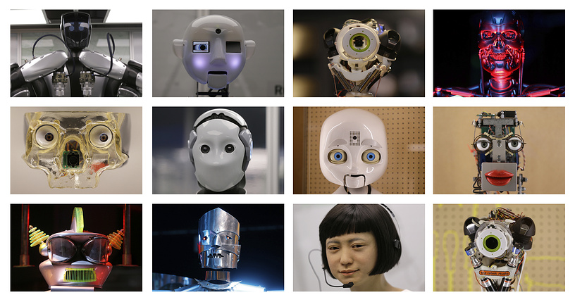 A selection of the robots on display at the Science Museum
