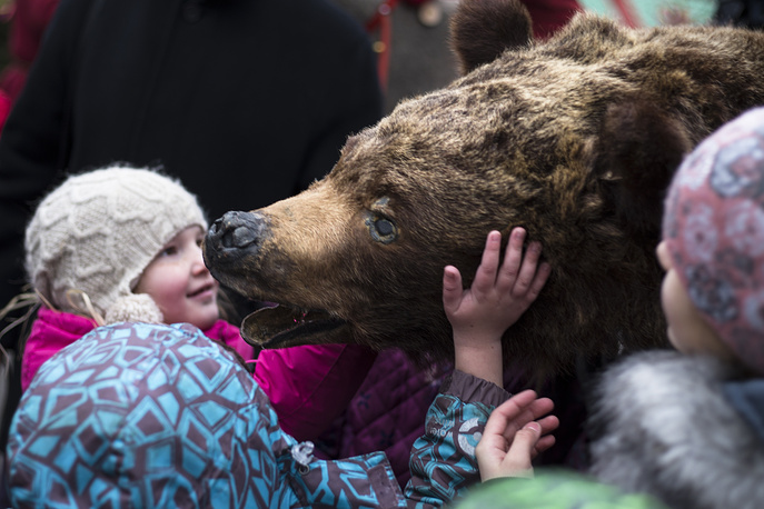 Maslenitsa celebrtions at Manezhnaya Square in Moscow