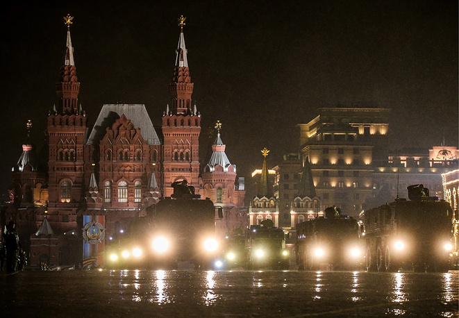 Military hardware in Moscow's Red Square