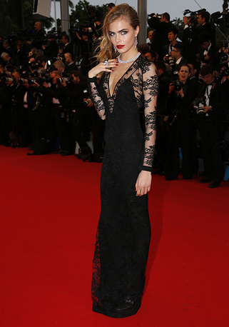 British fashion model Cara Delevingne at the 66th annual Cannes Film Festival, 2013