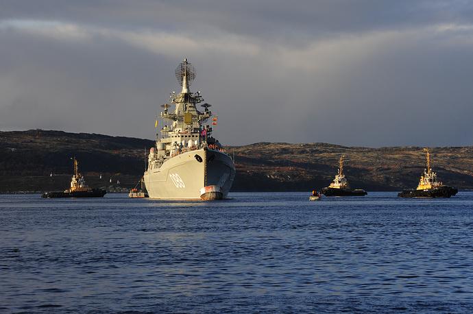 Nuclear powered missile cruiser Pyotr Velikiy