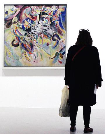 "Ernst Beyeler, a dealer from Basel, Switzerland, bought Wassily Kandinsky's ""Fugue"" (1914) for $20.9 million in 1990"
