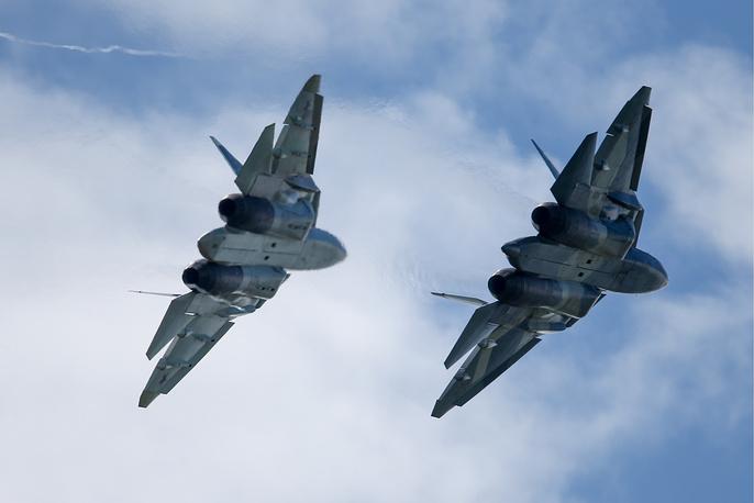 Sukhoi T-50 PAK FA fighter jets