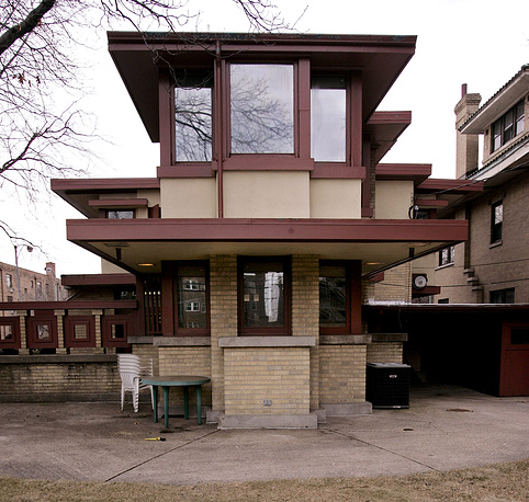 The Prairie style Emil Bach House by Frank Lloyd Wright, in Chicago