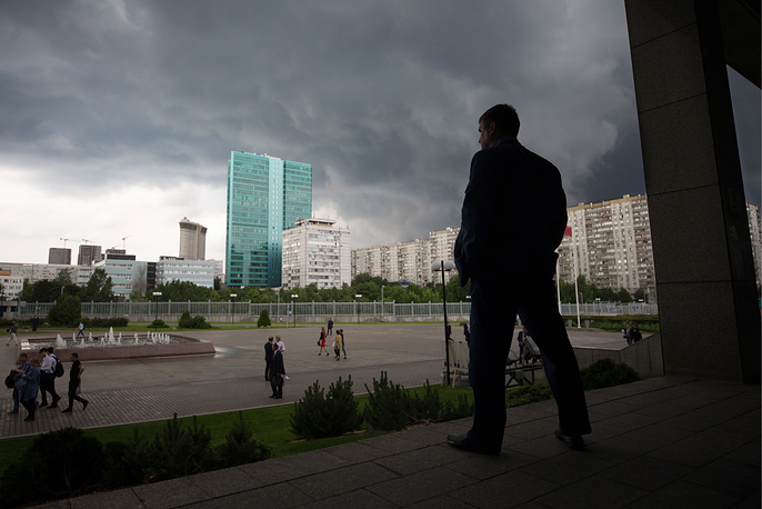 Storm clouds seen over Moscow