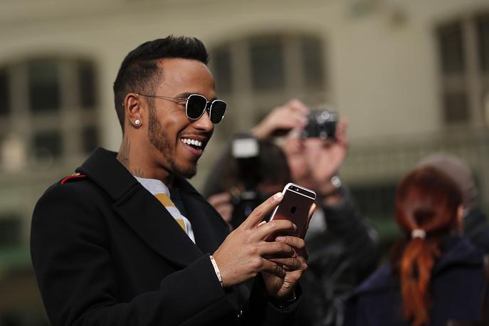 British Formula One driver Lewis Hamilton