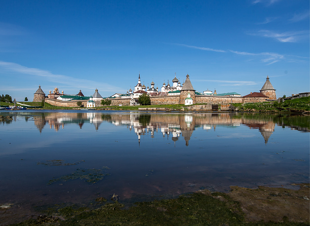 A view of the Solovetsky Monastery situated on the Solovetsky Islands in the White Sea in northern Russia