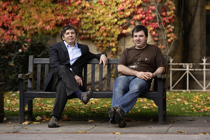 """Andre Geim and Konstantin Novoselov were awarded the Nobel Prize in Physics in 2010 """"for groundbreaking experiments regarding the two-dimensional material graphene"""""""