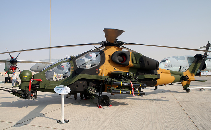 Turkish T-129 ATAK combat helicopter