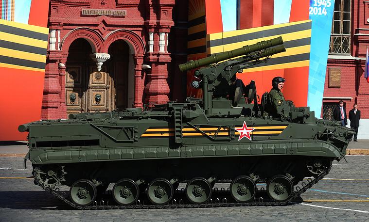 Khrizantema-S anti-tank missile launcher