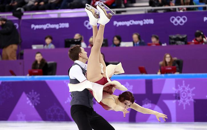 Ice dancers Ekaterina Bobrova and Dmitri Soloviev