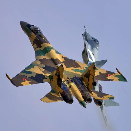 Su-35 and Su-57 fighter jets