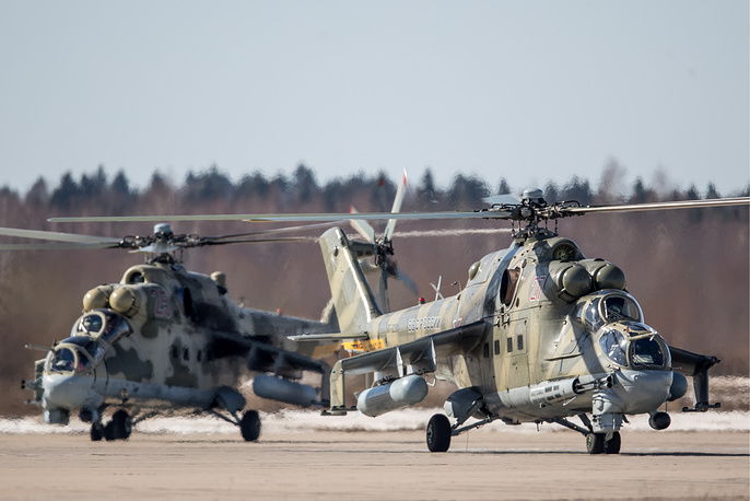 Mil Mi-24 combat helicopters