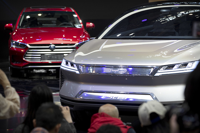 Chinese Automaker BYD E-SEED electric concept car