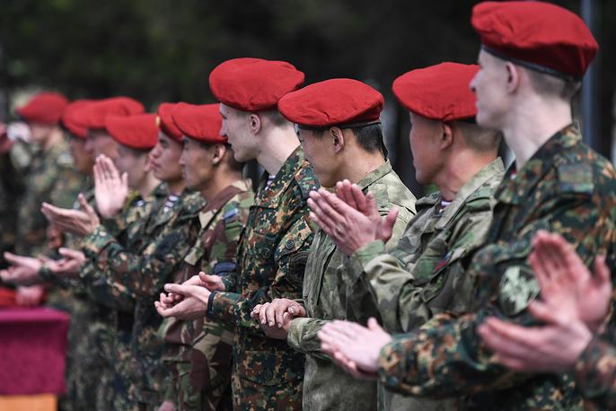 The maroon beret awards ceremony
