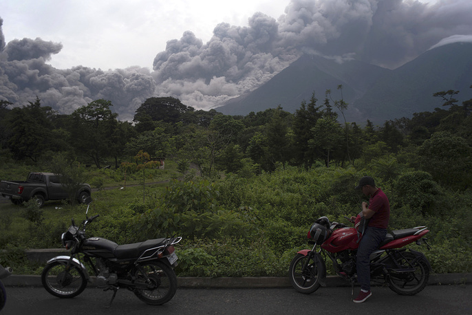 Guatemala's Volcan de Fuego, or Volcano of Fire, continues to show signs of greater activity