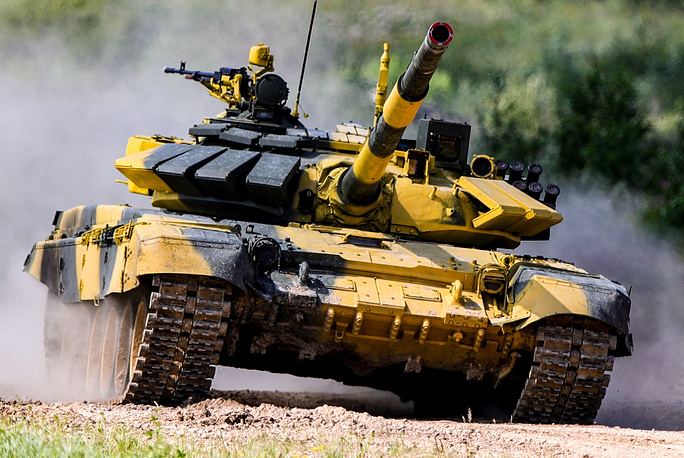 T-72B3 tank of Team Vietnam competes in an individual race
