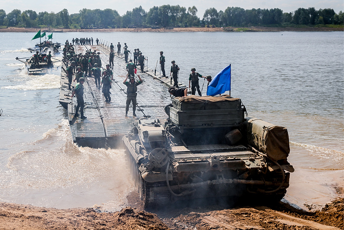 Open Water contest at the 2018 International Army Games