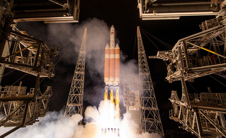 The Parker Solar Probe blasts off from NASA's Kennedy Space Center in Cape Canaveral, August 12