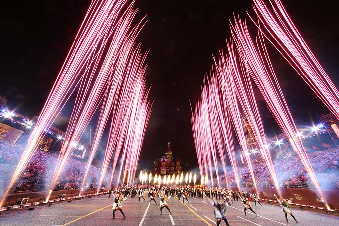 Closing ceremony of the 2018 Spasskaya Tower International Military Music Festival