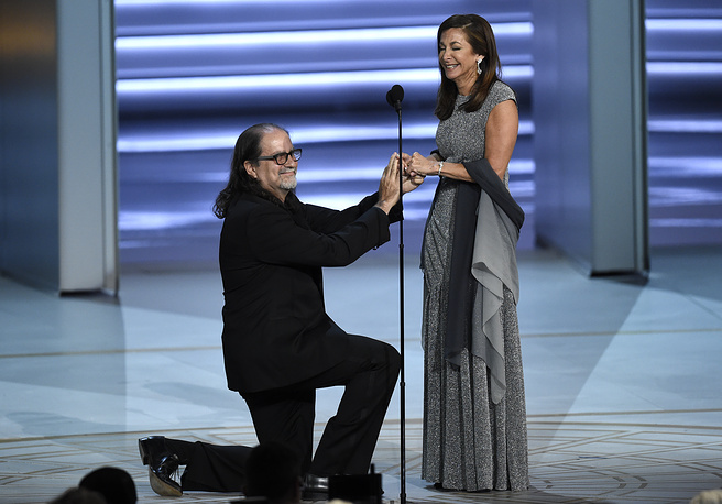 Glenn Weiss won the Emmy for Outstanding Directing for a Variety Special (for directing the 2018 Oscars), and then proposed to his girlfriend Jan Svendsen