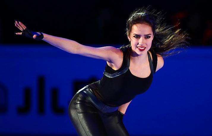 Gold medalist in the women's competition Alina Zagitova of Russia