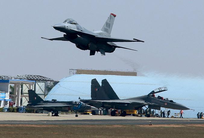 US Lockheed Martin F-16 fighter jet
