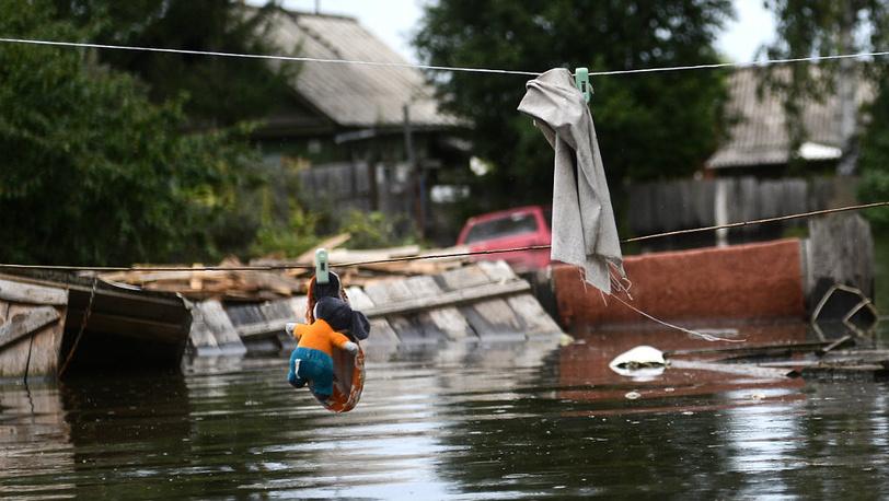 August 25. Flooded Khabarovsk district Krasnaya Rechka. Photo ITAR-TASS/ Olga Egoraeva