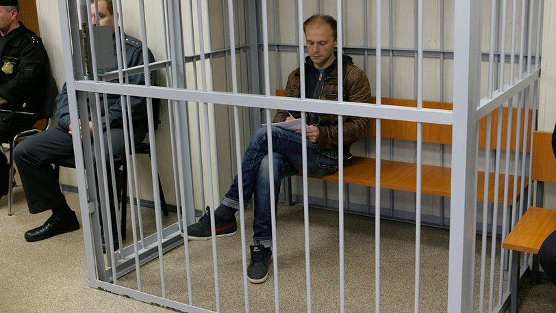 Denis Sinyakov, photographer, in court. Murmansk, 2013