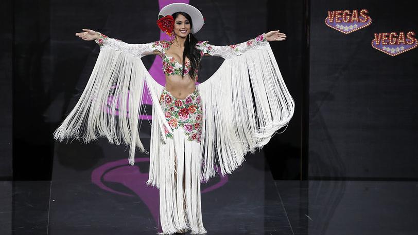 Второе место заняла 23-летняя испанка Патрисия Родригес. AP Photo/Pavel Golovkin