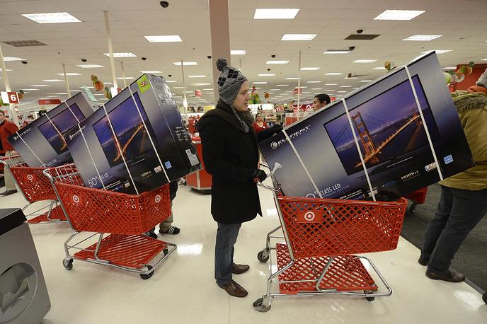 Начало распродаж в День благодарения в штате Вирджиния