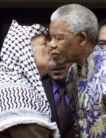 Ясир Арафат и Нельсон Мандела